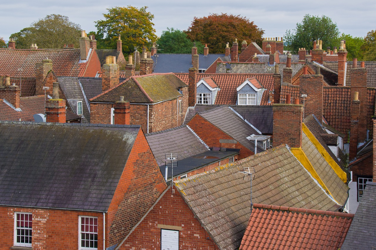 Houses City Brick Architecture