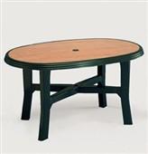 Plastový stůl ovalný